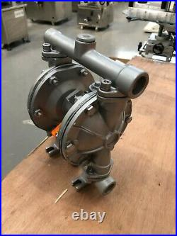 1/2 Air Diaphragm Pump Stainless with PTFE Seat Ball & Diaphragm 15B-SS-TF
