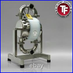 1.5 Sanitary Dellmeco Air Diaphragm PumpPolished 316 SS-Food-Beverage-Resin