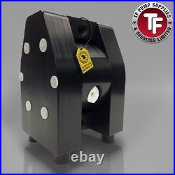 3/8 Dellmeco Air Diaphragm PumpSolid PTFE Body-PTFE Seals-Atex DM10/25-ZTF