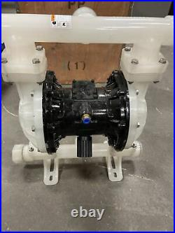 Air-Operated Double Diaphragm Pump QBY3-25APP 22 GPM 100 PSI 1 inch Inlet&Outlet