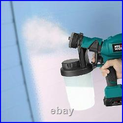 Cordless Paint Sprayer, NEU MASTER Electric HVLP Powerful Spray Gun with 3 Spray