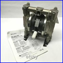 Graco D44381 Husky 716 SS Air-Operated Double Diaphragm Pump, 3/4 NPT, 15 GPM