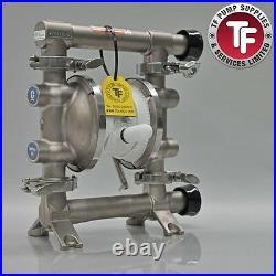 Graco SaniForce 515 FDA Sanitary Air Diaphragm Pump FD5122 PTFE/Sant/Sant