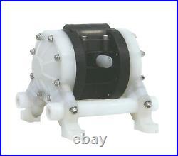 NEW 3/8 or 1/4 Chemical Resistant PP Air Diaphragm Pump