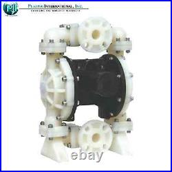 NEW IN BOX TF Double Diaphragm Air Poly Pump Chemical Industrial 1 inch