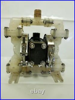 Versa-Matic E6 Polypropylene 1/4 Air Operated Double Diaphragm Pump
